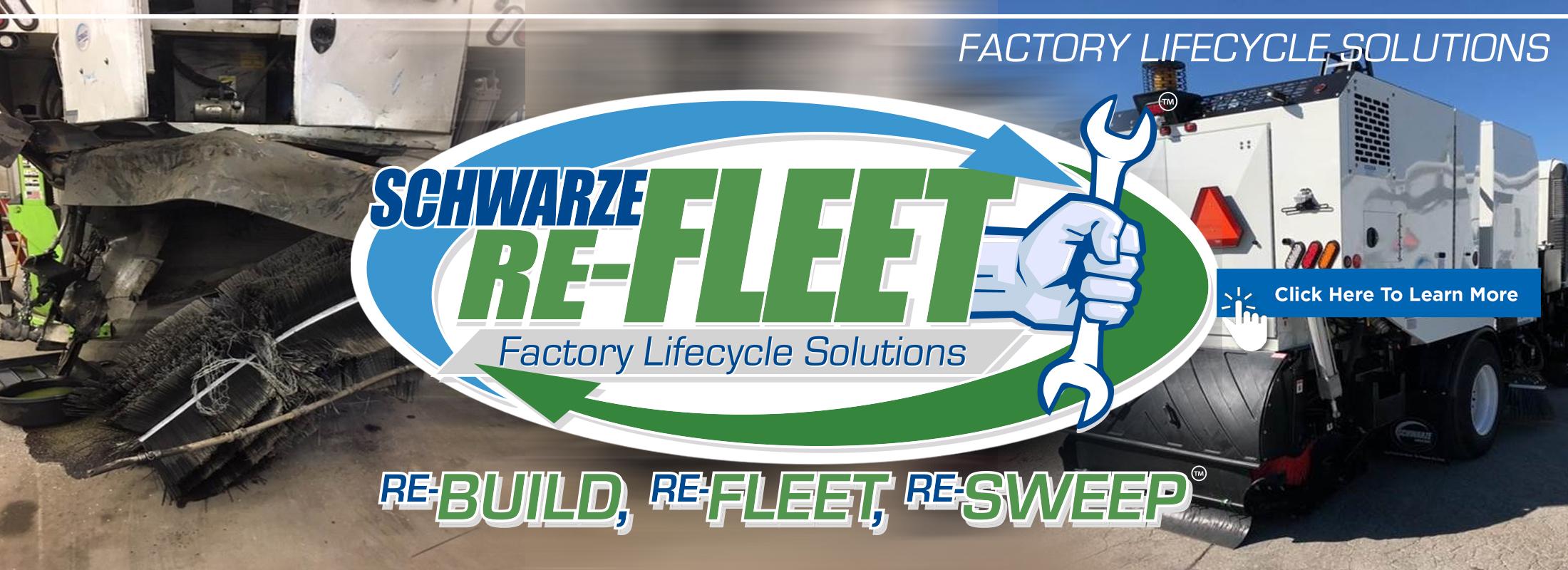 Schwarze Refleet Banner Graphic