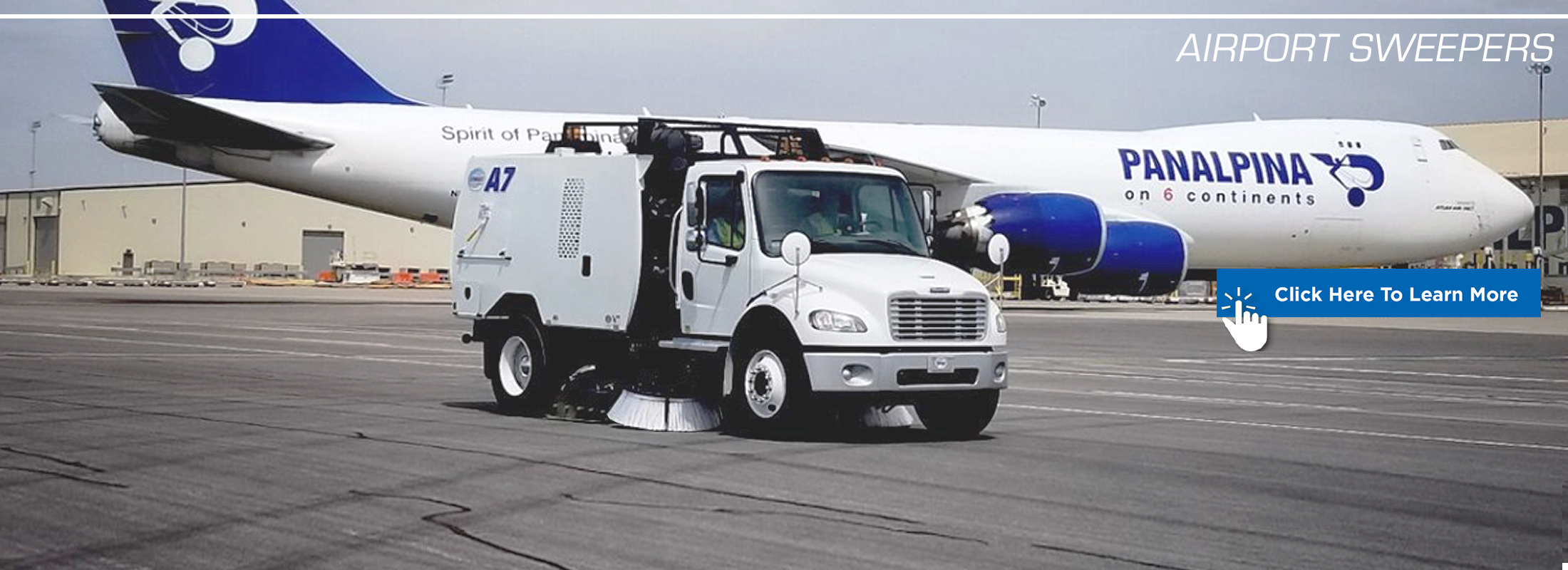 Airport Sweepers banner graphic